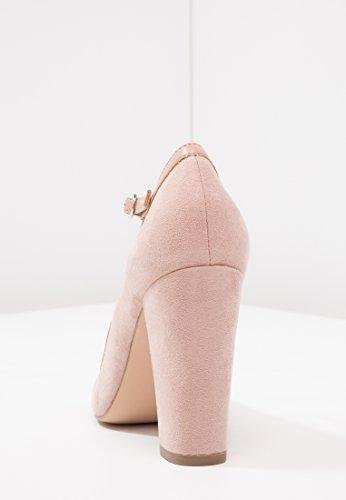 Anna Field Riemen Pumps Für Damen - Damenschuhe mit Blockabsatz & Fesselriemchen - High Heels in Edlem Leder Look - Absatzschuhe mit Runder Spitze Rosa