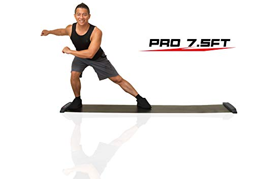 Balance 1 Slide Board Pro-90 Inch(7.5FT) Super Smooth Board with Free Lycra Booties!