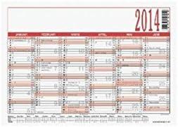 Tafelkalender 900, Kalendarium 6 Monate/1 Seite, A6, Druckfarbe schwarz/rot