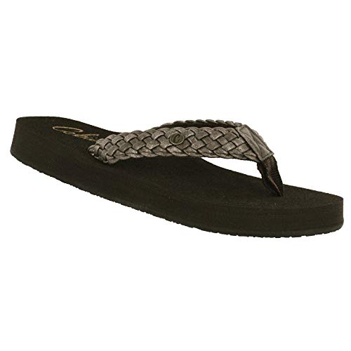 Cobian Braided Bounce Women's Flip Flop Sandal - Iridescent Bronze