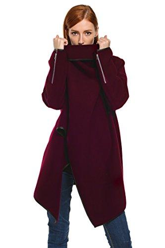 Zeagoo Fashion Women Slim Fit Woolen Coat Trench Coat Long Jacket Outwear by Zeagoo