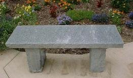 Stone Age Creations BE-GR-3 Granite Bench, Blue/Gray