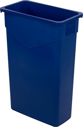 Carlisle 34202314 TrimLine Rectangle Waste Container Trash Can Only, 23 Gallon, Blue
