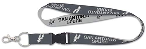 - Wincraft NBA San Antonio Spurs Premium Lanyard Key Chain, Charcoal Edition