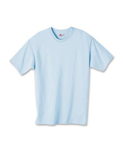 (Hanes boys Cotton T-Shirt(5450)-Light Blue-S )