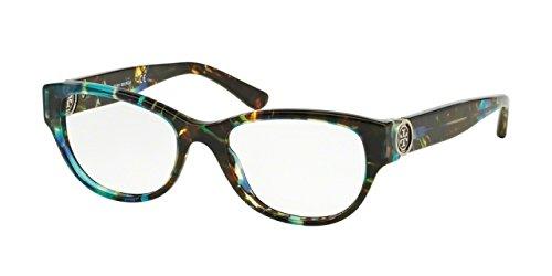 Tory Burch TY2060 Eyeglass Frames 3145-50 - Blue Brown Tort