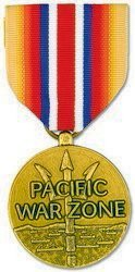 Pacific War Zone Merchant Marine Medal (As Issued by the U.S. Government) by HMC
