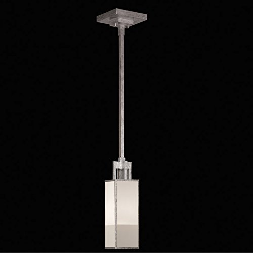 - Fine Art Lamps 754040-2, Perspectives Mini Square Pendant, 1 Light, 60 Total Watts, Silver
