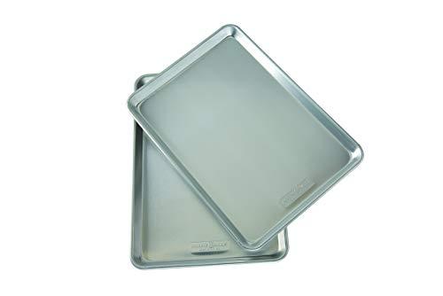 Nordic Ware Natural Aluminum Commercial Baker's Half Sheet (2 Pack), Silver (Renewed)