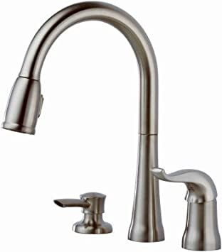 Delta Kitchen Faucet Low Lead H Arc Spout Kate 6 To 16 Centers Stainless Touch On Kitchen Sink Faucets Amazon Com