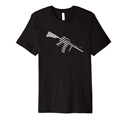 AR15 US Flag Design - AR-15 Gun T-Shirt Premium T-Shirt (Best Caliber For Ar 15)