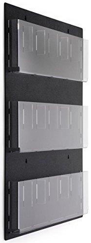 Displays2go Wall Mounted Literature Rack, Hanging with ()