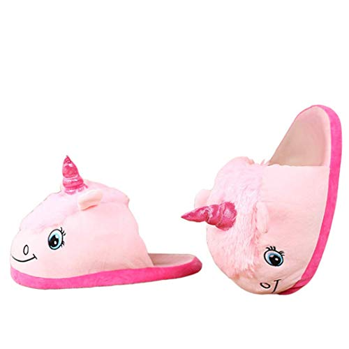 Femme Umall Adulte Chaussons Hiver Led Licorne Pink Pantoufles 35 Slippers 43 Animaux Sheep Enfant Chausson 0rw1A0