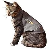 ThunderShirt Classic Cat Anxiety Jacket, Heather Gray, Small