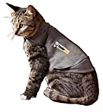 ThunderShirt Classic Cat Anxiety Jacket, Heather G...