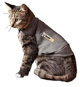 ThunderShirt Classic Cat Anxiety Jacket, Heather Gray, Medium
