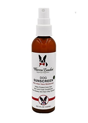 Warren London Premium Dog Sunscreen with Natural Aloe Vera Moisturizer in 4 oz Spray Bottle