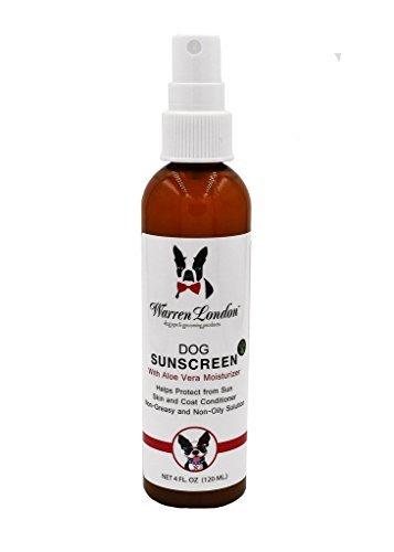 Warren London Premium Dog Sunscreen with Natural Aloe Vera Moisturizer in 4 oz Spray Bottle