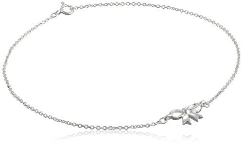 Sterling-Silver-Bow-Cable-Chain-Anklet-10
