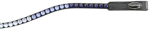Kavalkade Stirnband, schmal, gebogen, mit weißen Steinen, V