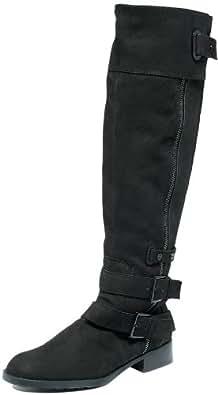 RACHEL ROY SHUSHA BLACK NUBUCK TALL FASHION BOOTS SIZE 6 M
