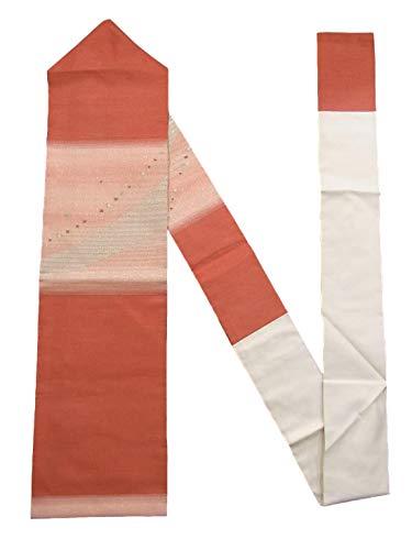 不調和民族主義占めるリサイクル 名古屋帯 縞と四角 オーロラ箔 正絹