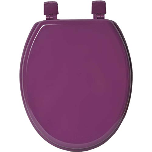 Evideco 4101170 Oval Toilet Seat Solid Color Purple, Wood, 17.5