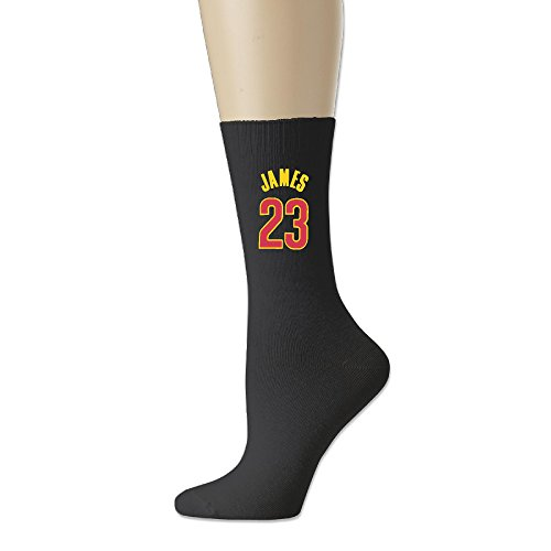 Reply1994 CAVS 23 Unisex Cotton Crew Socks Black