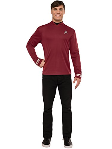 Star Trek Classic Red Shirt Deluxe Costumes (Rubie's Men's Star Trek: Beyond Scotty Deluxe Costume Shirt, Red, X-Large)