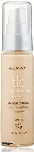 Almay TLC Truly Lasting Color 16 Hour Makeup, Buff 02 [140] 1 oz (Pack of 2) Almay Truly Lasting Makeup