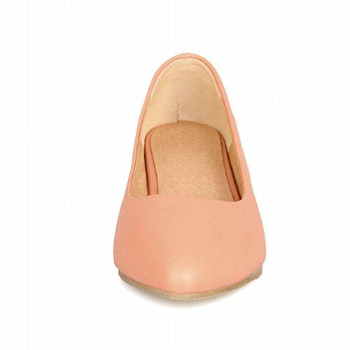 Mee Shoes Damen chunky heels spitz ohne Verschluss Pumps Pink