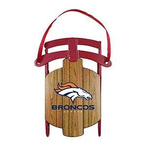 Denver Broncos Metal Sled Ornament