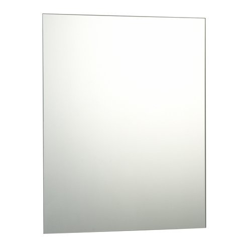 50 x 70cm Plain Frameless Bathroom Rectangle Mirror with Wall Fixings