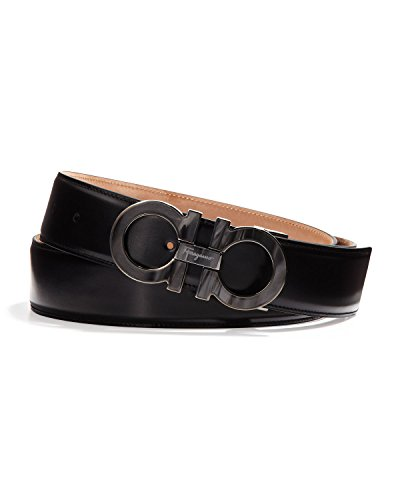 Salvetore Ferragamo Men's Double Gancini Belt with Mother of Pearl Buckle (42 US/105EU)