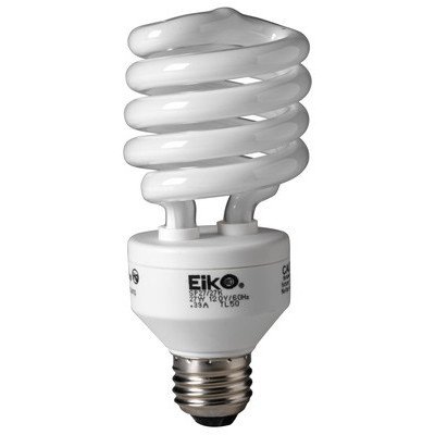 Eiko SP27/50Kx50 SP27/50K 26W 120V 5000K spiral SHAPED Light Bulb (Pack of 50) by Eiko