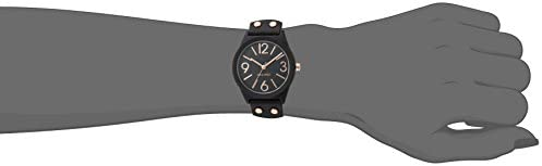 Nine West Women's NW/1932BKRG Matte Black Rubberized Bracelet Watch 2