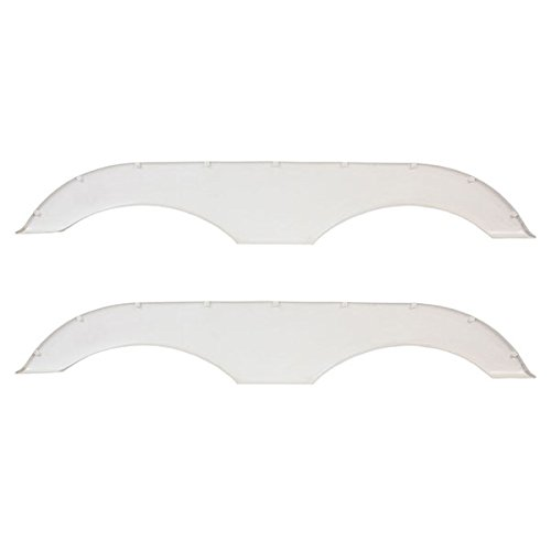 Pair of Alpha Systems Tandem Trailer Fender Skirt - White