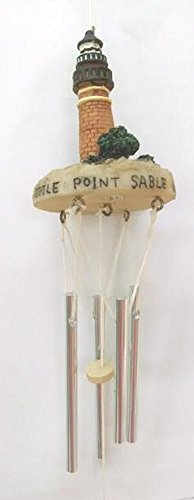 (Lighthouse Windchime (16 inch, Point Sable MI))