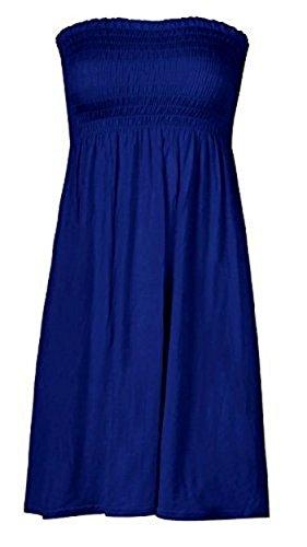 t sexy plage uni 8 fin Blue de haut manche sans dcontract femme sans bretelles femmes Mlange de lot haut bandeau s haut grande taille robe taille 22 m nouvelles Royal 76qUA