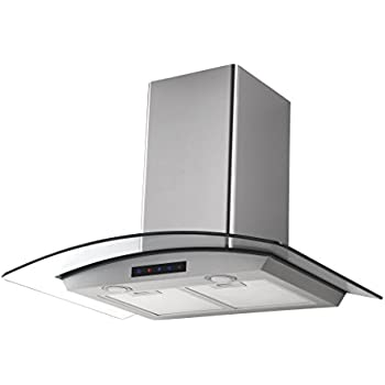 Attrayant Kitchen Bath Collection HA75 LED Stainless Steel Wall Mounted Kitchen Range  Hood With Tempered