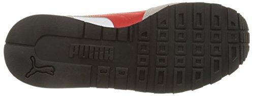 PumaSt Runner L - Zapatillas de running Niños Blanco/Rojo intenso (Drizzle/White/High Risk Red)