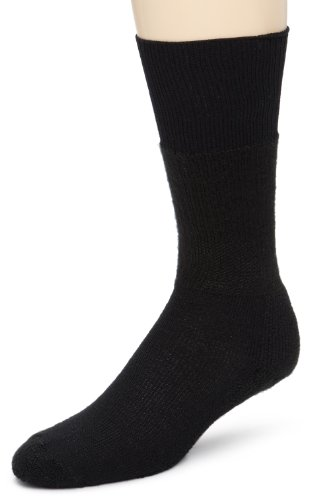 Thorlos Padded Western Over the Calf Dress Sock Black (Calf Western Dress Socks)