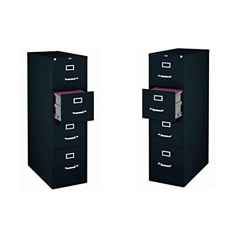 Value Pack (Set of 2) 4 Drawer Letter File Cabinet in Black