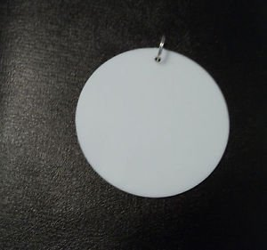 10 Blank White Disc Medallion Metal Ring for Mardi Gras Beads Necklaces Pendants
