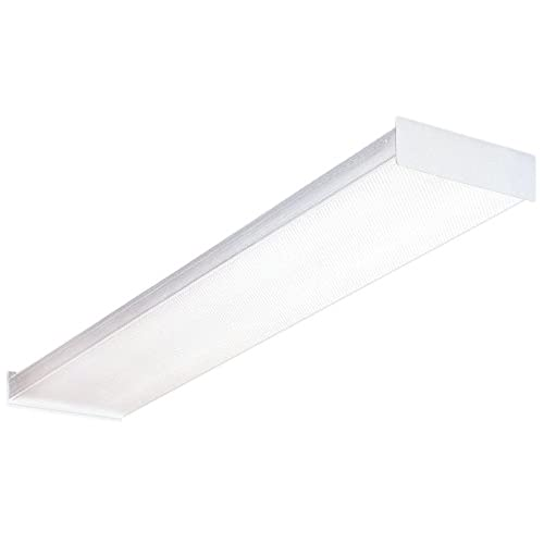 4 foot led light fixture amazon lithonia lighting fluorescent square 2 lamp 4 feet 120v wraparound light 32w t8 aloadofball Image collections