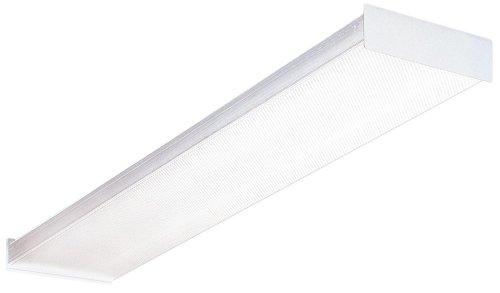 Lithonia Lighting Fluorescent Square 2 lamp, 4 feet, 120V Wraparound Light, 32W T8 Lighting Fluorescent Lamp