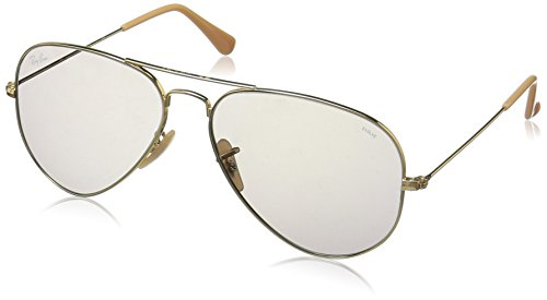 Ray-Ban RB3025 Aviator Evolve Photochromic Sunglasses, Gold/Grey Photochromic, 58 mm