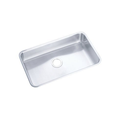 Elkay ELUH281612DBG Gourmet Stainless Steel Kitchen Sink Lustrous Satin 1 Basins by Elkay by Elkay