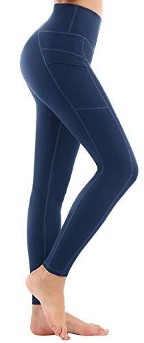 Side Cell Pocket - LifeSky Yoga Pants for Women with Pockets High Waist Tummy Control Leggings 4 Way Stretch Soft Athletic Pants