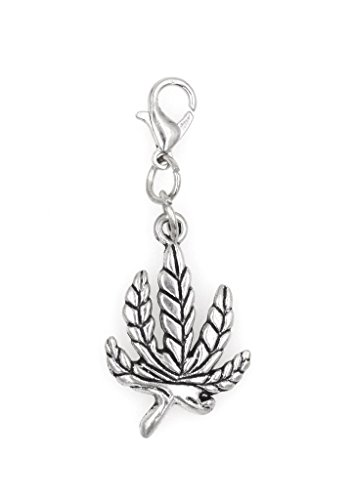 Marijuana Leaf Clip On Charm Perfect for Necklaces and Bracelets (ZC (Skunk Charm)